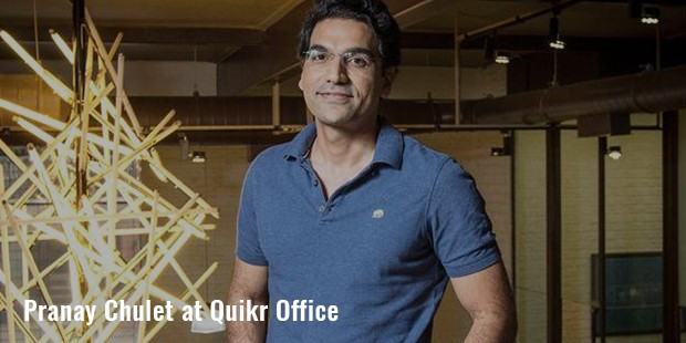 pranay chulet at quikr office