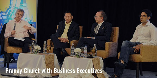 pranay chulet with business executives