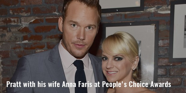 pratt with his wife anna faris at people s choice awards