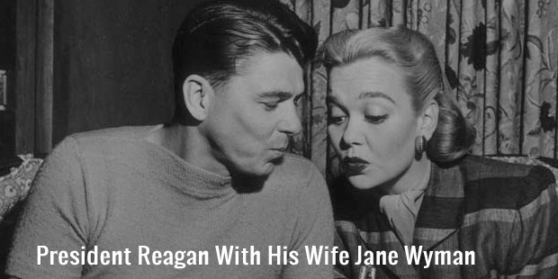 president reagan with his wife jane wyman