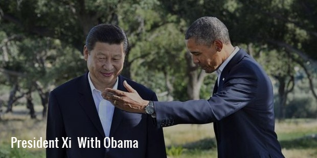 president xi  with obama