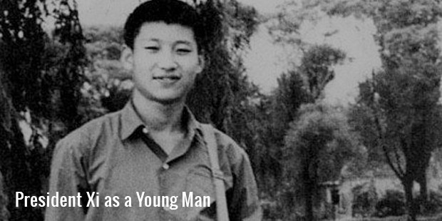 president xi as a young man