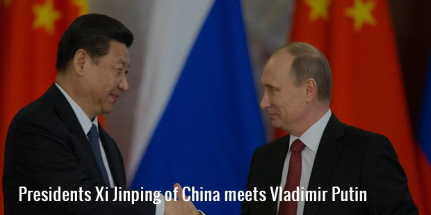 presidents xi jinping of china meets vladimir putin
