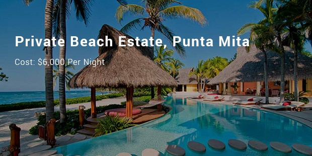 private beach estate, punta mita
