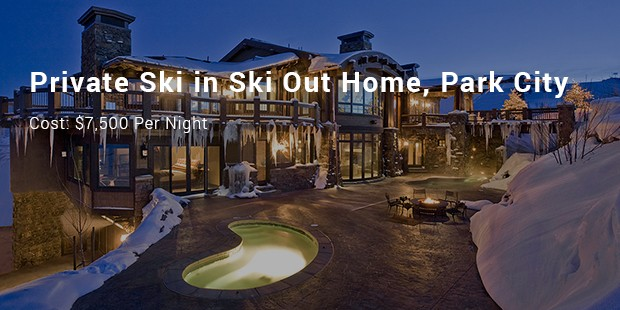 private ski in ski out home, park city