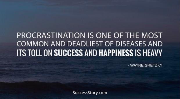 procrastination is one