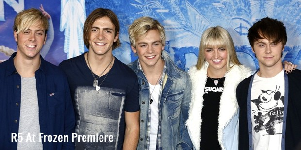 r5 at frozen premiere
