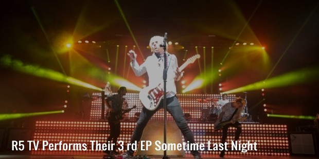 r5 tv performs their 3 rd ep sometime last night