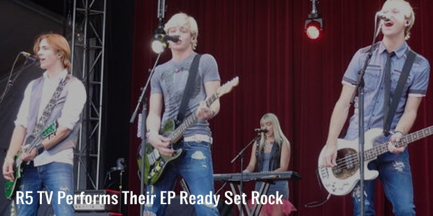 r5 tv performs their ep ready set rock