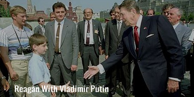 reagan with vladimir putin