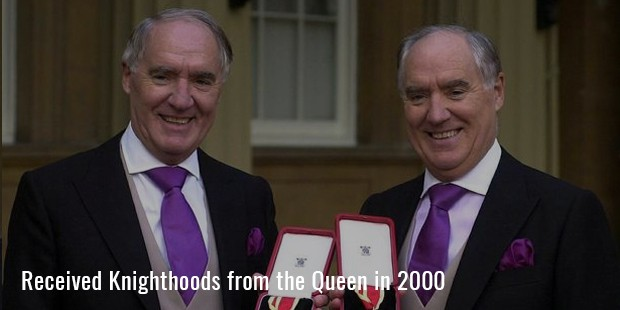 Received Knighthoods from the Queen in 2000