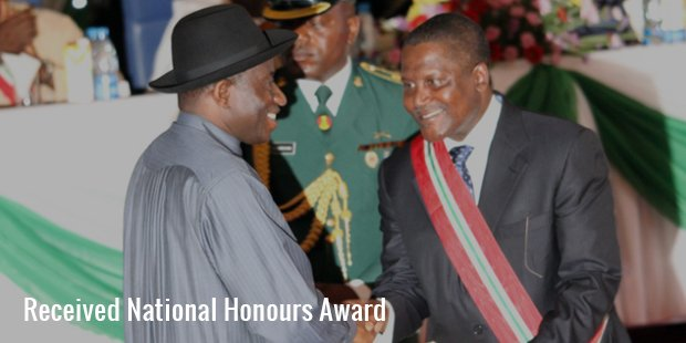 received national honours award