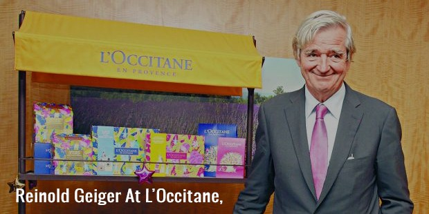 reinold geiger at l'occitane,