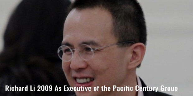 richard li 2009 as executive of the pacific century group