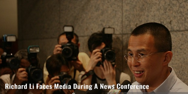richard li faces media during a news conference