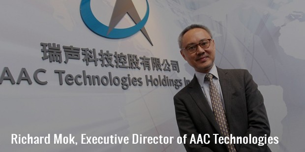 richard mok, executive director of aac technologies