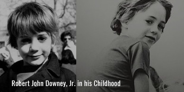 Robert John Downey, Jr. in his Childhood