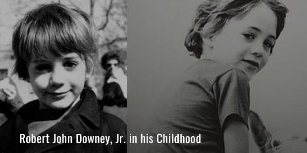 Robert John Downey, Jr. in his Childhood