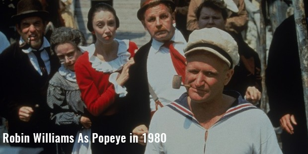 robin williams as popeye in 1980