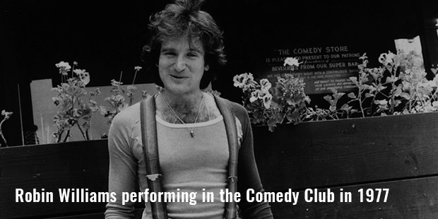 robin williams performing in the comedy club in 1977