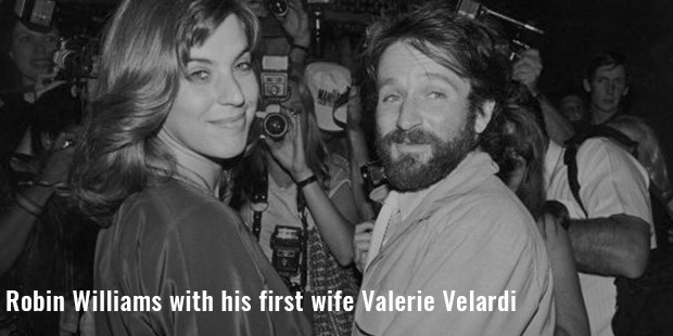 robin williams with his first wife valerie velardi