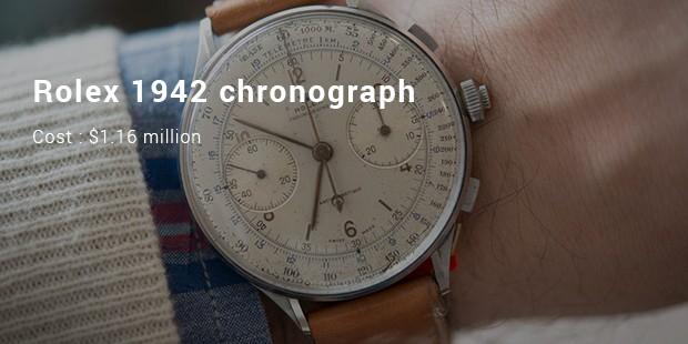rolex 1942 chronograph