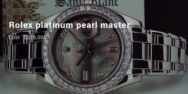 rolex platinum pearl master