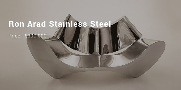 Ron Arad Stainless Steel Sofa 300 000
