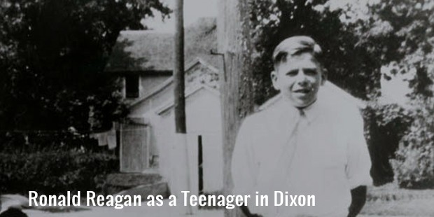 ronald reagan as a teenager in dixon