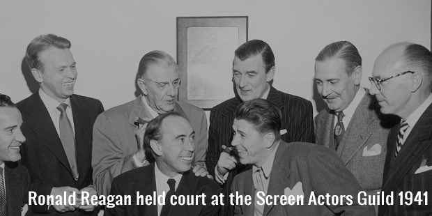 ronald reagan held court at the screen actors guild 1941