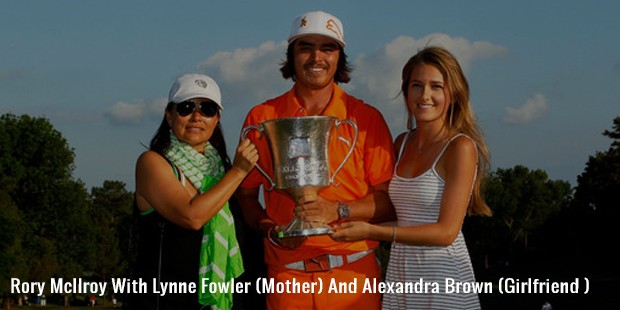rory mcilroy with lynne fowler  mother  and alexandra brown  girlfriend