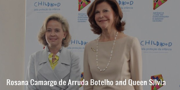 rosana camargo de arruda botelho and queen silvia