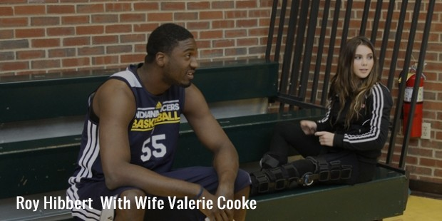 roy hibbert  with wife valerie cooke