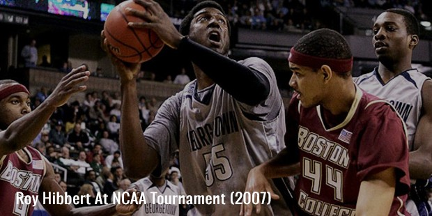 roy hibbert at ncaa tournament  2007