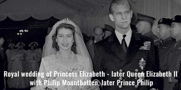 royal wedding of princess elizabeth   later queen elizabeth ii