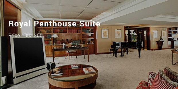 8 most expensive priced hotels list expensive places for Royal penthouse suite hotel president wilson