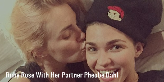 ruby rose with her partner pheobe dahl
