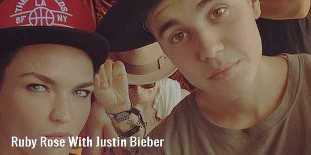 ruby rose with justin bieber