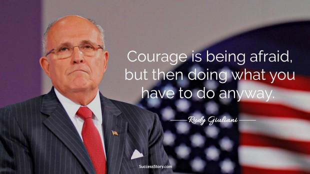 rudy giulani on courage