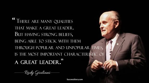 rudy giulani on leader
