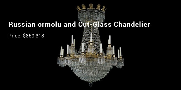 russian ormolu and cut glass chandelier