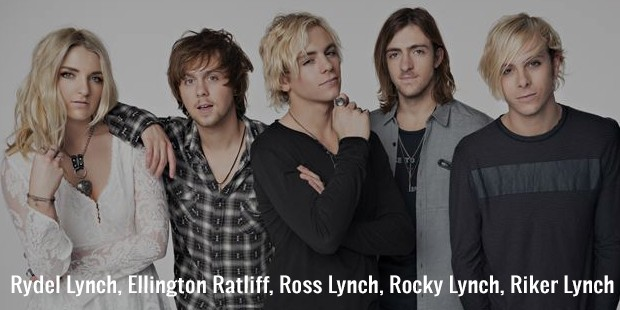 rydel lynch, ellington ratliff, ross lynch, rocky lynch, riker lynch