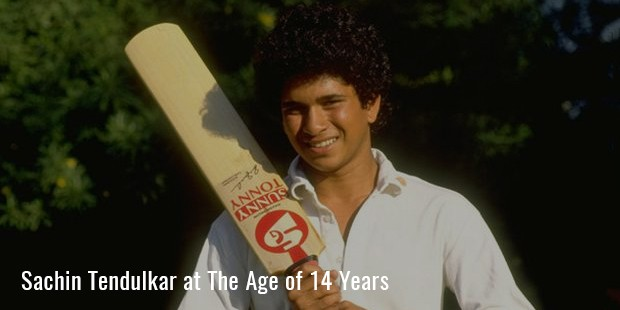 sachin tendulkar at the age of 14 years