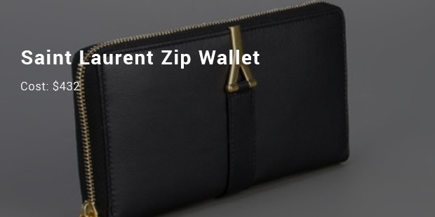 saint laurent zip wallet