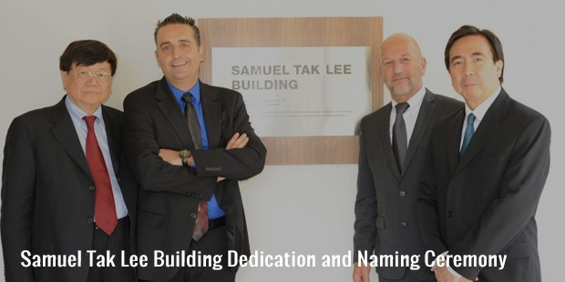 samuel tak lee building dedication and naming ceremony