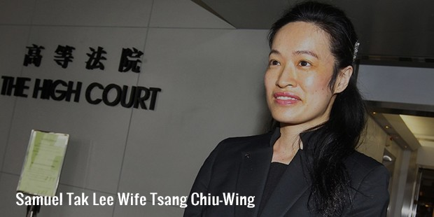 samuel tak lee wife tsang chiu wing