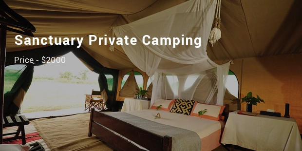 sanctuary private camping