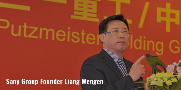 sany group founder liang wengen