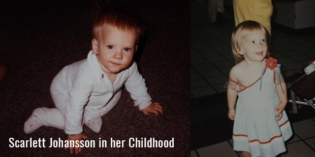 Scarlett Johansson in her Childhood