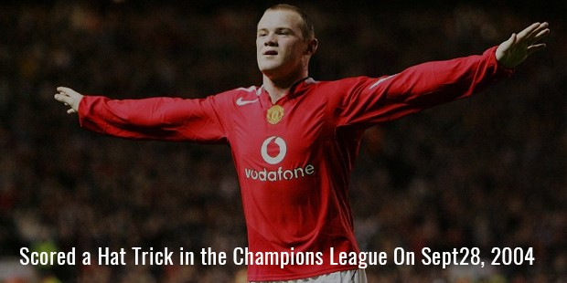 scored a hat trick in the champions league on sept28, 2004